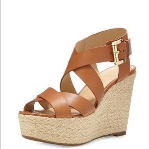Michael Kors Celia strappy wedge Sandals 9